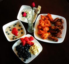 Tyson's Wings & Blue Cheese Dip and Sour Cream Fruit Dip! #MealsTogether #CBias