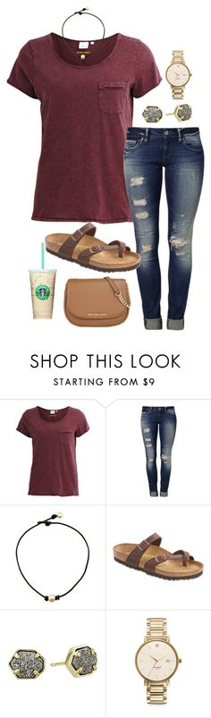 """I just spent $10 on ice cream..."" by ivoryvixen ❤ liked on Polyvore featuring Object Collectors Item, Mavi, Birkenstock, Kendra Scott, Kate Spade and MICHAEL Michael Kors"