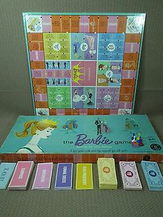 1960 Barbie Board Game... IN SEARCH OF THIS VINTAGE GAME, BUT GARAGE SALES ARE HERE SO MaYbE I WILL FIND ONE, SMILES... YOU HAVE 1 YA MAY WANNA SALE FOR A GOOD PRICE? JUST LET ME KNOW PLEASE?