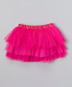 Hot Pink Tiered Tutu - Toddler & Girls by Miss Fancy Pants #zulily #zulilyfinds