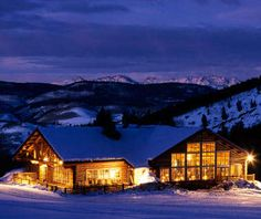 Beano's Cabin, Beaver Creek, Colorado. Accessible only by sleigh ride for a five-course dinner.