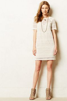 Picot Tunic Dress #anthropologie