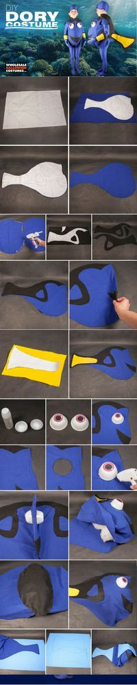 This DIY Dory costume will have your little one swimming their way through #Halloween!