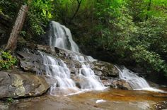 Laurel Falls - A magnificent waterfall in the Great Smoky Mountains