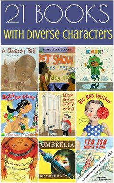 Children's picture books featuring a diversity of characters in everyday situations