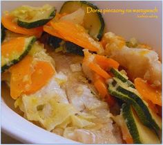 Kuchnia Sabiny: Dorsz pieczony na warzywach Thai Red Curry, Meat, Chicken, Ethnic Recipes, Food, Essen, Meals, Yemek, Eten