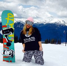 Great pic of some spring snowboarding in Whistler, BC! #TEAMLTD