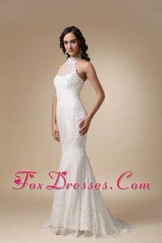Wedding Dress High-neck