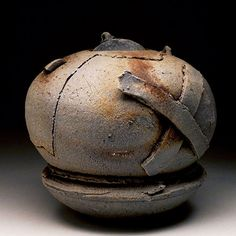 Don Reitz - Jar, 2008,   anagama fired stoneware, 7 day fire with oak, hickory, pine