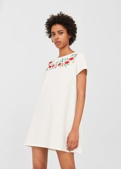 Floral embroidery dress -  Women | MANGO USA