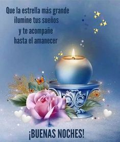 Spanish Pictures, Happy Day, Sweet Dreams, Good Night, Place Card Holders, Floral, Painting, Kid Art, Good Night Friends Quotes