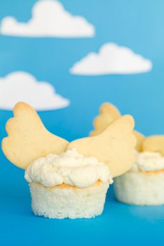 Angel Food Cupcakes. I'd use store bought angel food cake mix and tube cookie dough!