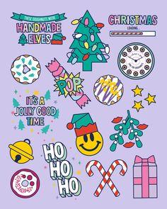 seasonofvictory seasonofvictory Doughnut Time UK Christmas Collection Doughnut Time UK Christmas Co Christmas Tree Graphic, Christmas Icons, Cute Christmas Wallpaper, Exhibition Booth Design, Drawing Skills, Window Decals, Food Illustrations, Handmade Christmas, Rainbow Colors