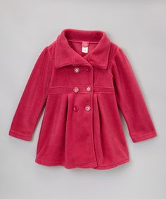Pink Polar Fleece Swing Coat - Girls by Giovanni