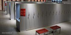 Fitness Time locker room in Saudia Arabia, featuring locks