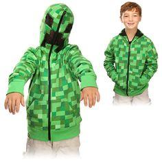 Minecraft Creeper Youth Hoodie