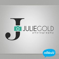 Julie gold photography logo- like the use of type in the name