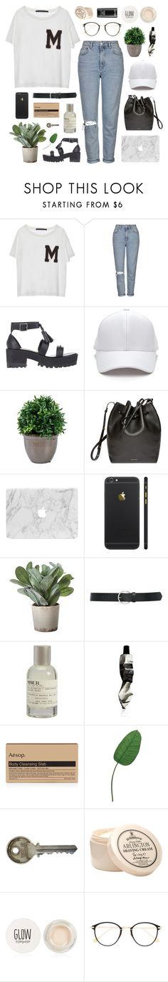 """""""you're the best thing i never knew i needed"""" by ruthaudreyk ❤ liked on Polyvore featuring Topshop, Windsor Smith, Mansur Gavriel, Torre & Tagus, M&Co, Le Labo, Aesop, Laura Cole, D.R. Harris & Co Ltd. and Frency & Mercury"""