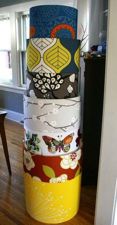 20 inch drum pendant light fixture in Robert Allen print