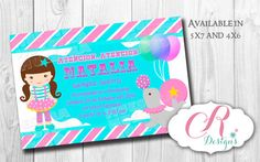 Pink Circus Digital Invitation