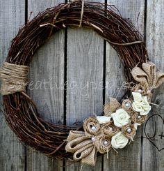 Cutest Wreath with Burlap & felt accents from Etsy.  So impressed, I love it!