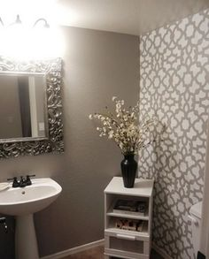 Amazing Small Bathroom Wallpaper
