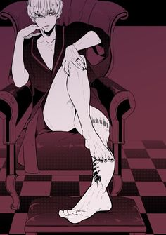 Uta treats Kaneki like a princess, lets him sit in the throne, outside of the bedroom.