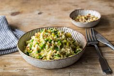 Leek and Courgette Risotto with Toasted Pine Nuts Recipe | HelloFresh