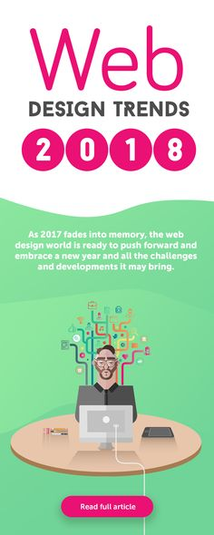 Website design Inspiration 2018 - As 2017 fades into memory, the web design world is ready to push forward and embrace a new year and all the challenges and developments it may bring Web Design Trends, Design Websites, Ui Design, Layout Design, Web Design Quotes, Creative Web Design, Website Design Services, Web Design Tips, Web Design Company