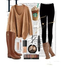 FALLstatement by mhorseluver2033 on Polyvore featuring polyvore, fashion, style, Warehouse, Hue, Tory Burch, NARS Cosmetics and NYX