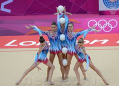 This is team Belarus from the 2012 Rhythmic Olympics