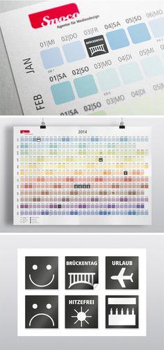 Wandkalender von Smoco, die Farben repräsentieren die Jahreszeiten.   The colours represent the seasons of the year #wallcalender #calender #seasons #jahreszeiten #Kalender #wandkalender