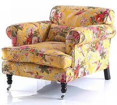 Home Decor Chairs by Sharon Van Den Houten is part of Country sofas - Shabby Chic Furniture, Painted Furniture, Home Furniture, Upholstered Furniture, Country Sofas, Country Decor, Country Style, French Country, Floral Chair