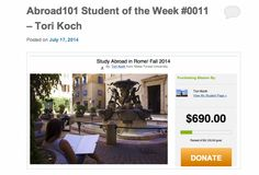 Our Abroad 101 Student of the Week #0011 honor goes to Tori Koch from Wake Forest University! Find out more information about Tori at our blog: http://blog.goennounce.com/abroad101-student-of-the-week-0011-tori-koch/?r=pinterest