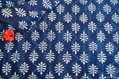 Items similar to Leaf design Natural dyed fabric Indigo fabric supply wholesale leaf design block print fabric by the yard on Etsy Textile Pattern Design, Textile Patterns, Fabric Design, Natural Dye Fabric, Fabric Remnants, Cool Fabric, Leaf Design, Printing On Fabric, Sewing Projects