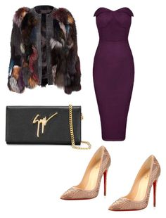 Fur realness !! by mercyomondi on Polyvore featuring polyvore, fashion, style, Christian Louboutin, Giuseppe Zanotti, women's clothing, women's fashion, women, female, woman, misses and juniors