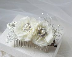 Bridal Hair Combs  Wedding Hair Flowers  Ivory Hairpieces