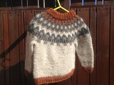 Icelandic sweater for 2 year old 2T handmade by Klettur on Etsy, $60.00