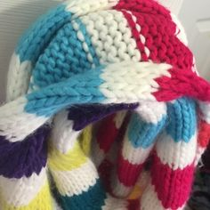 Super Cute Scarf  Long, colorful scarf. Super versatile. Can create many styles wearing this knit scarf Aeropostale Accessories Scarves & Wraps