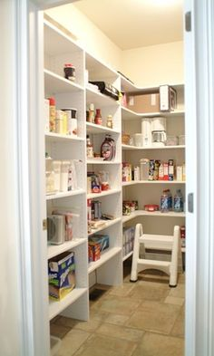 Walk-in pantry. I want my pantry to look like this.