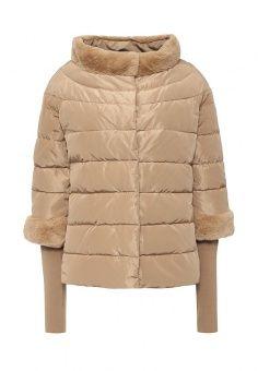 Пуховик, adL, цвет: бежевый. Артикул: AD006EWLXG87. Женская одежда / Верхняя одежда / Пуховики и зимние куртки