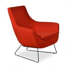 Aeon Furniture Parker Lounge Chair Orange - AE0358-B16-ORANGE AE0358-6-BASE