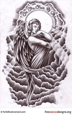 A guardian angel giving you hope and strength in the face of adversity. I think Beckham has a similar tattoo design as part of his sleeve on the upper arm.
