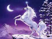 A legendary creature is a mythical or fantastic creature in historical literature. Some have their origin in traditional myths and have at one time been believed to be real beings.The Phoenix, Pegasus, Unicorn and the Centaur are just some of these. Unicorn And Fairies, Unicorn Fantasy, Unicorn Horse, Unicorn Art, Magical Unicorn, Fantasy Art, White Unicorn, Purple Unicorn, Unicorn Poster