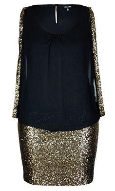Women's Plus Size Sequin Sister Dress | City Chic USA