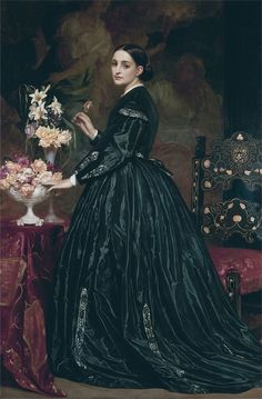 3e7e82803 Mrs Ellinor Guthrie by Frederic Leighton - 1860s in Western fashion -  Wikipedia