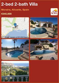 2-bed 2-bath Villa in Moraira, Alicante, Spain ►€345,000 #PropertyForSaleInSpain
