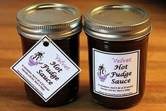 jars with tags Homemade Chocolate Syrup, Homemade Hot Fudge, Chocolate Recipes, Sanders Hot Fudge Recipe, Hot Fudge Sauce, Eggless Recipes, Fudge Recipes, Sauce Recipes, Ice Cream Toppings