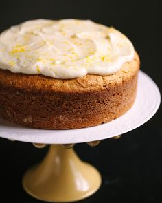Familystyle Food - Lemon Ricotta Cake with Mascarpone