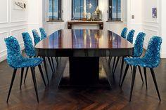 #Gina, un juego de luces y transparencias ideado por Jacopo #Foggini para #Edra, una silla realizada a mano en un intrincado bordado de policarbonato.